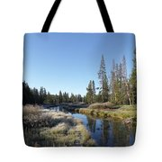 A Frosty Morning Along Obsidian Creek Tote Bag