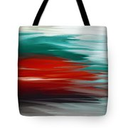 A Frozen Sunset Abstract Tote Bag