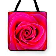A Fuschia Pink Rose Tote Bag