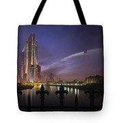 A Futuristic City On An Tote Bag