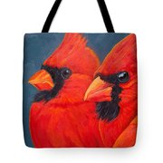 A Gathering Of Cardinals Tote Bag