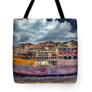 A Genesis Sunrise Over The Old City Tote Bag