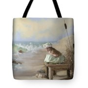 A Girl Posed By The Seashore Victoria Tote Bag