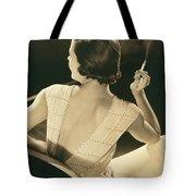 A Glamourous Woman Smoking Tote Bag