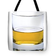 A Glass Of Whisky Or Whiskey Isolated Tote Bag