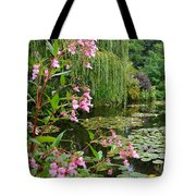 A Glimpse Of Monet's Pond At Giverny Tote Bag