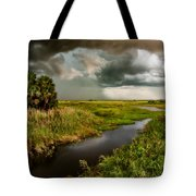 A Glow On The Marsh Tote Bag