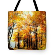 A Golden Day Tote Bag by Lois Bryan