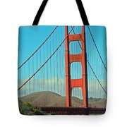A Golden Gate View Tote Bag