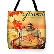 A Gourmet Cover Of Mushrooms On Toast Tote Bag