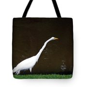 A Great Egret On Hilton Head Island Tote Bag