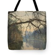 A Great Tree On A Riverbank Tote Bag