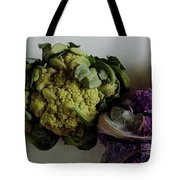A Group Of Cauliflower Heads Tote Bag