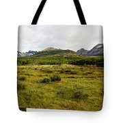 A Group Of Hikers Walk Tote Bag