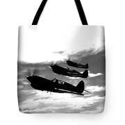 A Group Of P-40 Warhawks Fly Tote Bag