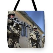 A Group Of U.s. Army Soldiers Provide Tote Bag