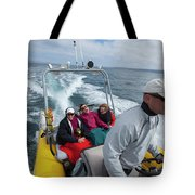 A Group Of Young Women By Guided Tote Bag