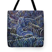 A Group Of Zebras Tote Bag