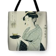 A Half Length Portrait Of Naniwaya Okita Tote Bag