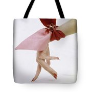 A Hand With A Wrist Scarf Tote Bag by Clifford Coffin