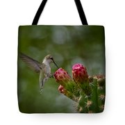 A Happy Little Hummer  Tote Bag