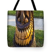A Happy Tiki From A Palm Tree Stump Tote Bag