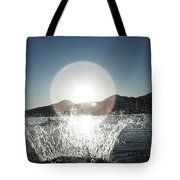 A Happy Young Women Canon Balls Tote Bag