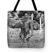 A Hawaiian With Coconuts Tote Bag