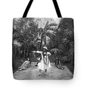 A Hawaiian Woman Dancing Tote Bag