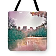 A Haze Over Central Park Tote Bag