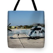 A Hellenic Air Force Super Puma Search Tote Bag