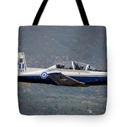 A Hellenic Air Force T-6 Trainer Flying Tote Bag