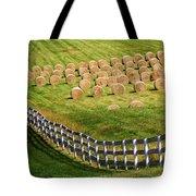 A Herd Of Hay Bales Tote Bag