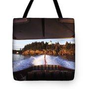 A Hinckley Picnic Boat Travels Tote Bag
