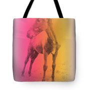 A Horse Baby Is A Fragile Creature, Ready To Run For Its Life  Tote Bag