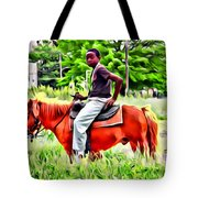 A Horse In Philly Tote Bag