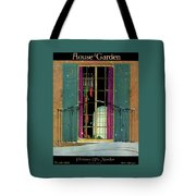 A House And Garden Cover Of A Christmas Tote Bag