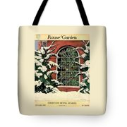A House And Garden Cover Of A Christmas Tree Tote Bag