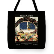 A House And Garden Cover Of A Four-poster Bed Tote Bag