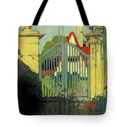 A House And Garden Cover Of A Gate Tote Bag