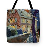 A House And Garden Cover Of A House In Winter Tote Bag