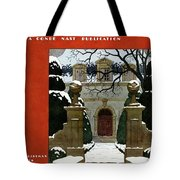 A House And Garden Cover Of A Mansion Tote Bag