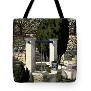 A House And Garden Cover Of A Well Tote Bag