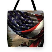 A House And Garden Cover Of An American Flag Tote Bag