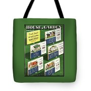 A House And Garden Cover Of Floorplans Tote Bag