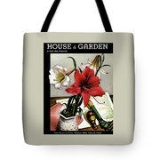 A House And Garden Cover Of Lilies Tote Bag