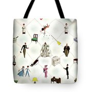 A House And Garden Cover Of People And Household Tote Bag
