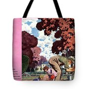A House And Garden Cover Of People Gardening Tote Bag
