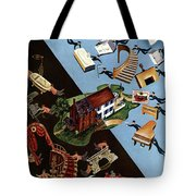 A House And Garden Cover Of People Moving House Tote Bag