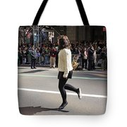 A Irish Dancer Doing Some Dancing At The 2009 St. Patrick Day Parade Tote Bag